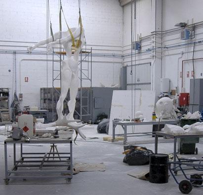 Monumento a Newton, Dalí. Ampliación Monumental para fundición. 6,80 metros altura