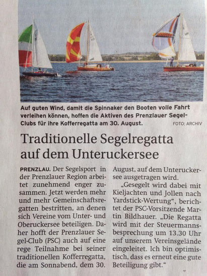 Prenzlauer Zeitung vom 25. August 2014
