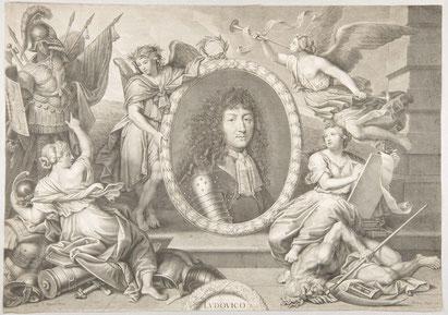 François de Poilly d'après Pierre Mignard. Thèse de Claude François Pellot, fin XVIIe. Musée Boucher-de-Perthes / Photo Sylvie Gilliard
