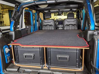 Bequem zu zweit im Jeep Wrangler schlafen