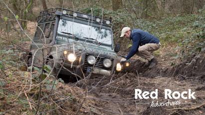 Bergung eines Fahrzeugs beim Offroad Abenteuer Tag - Red Rock Adventures