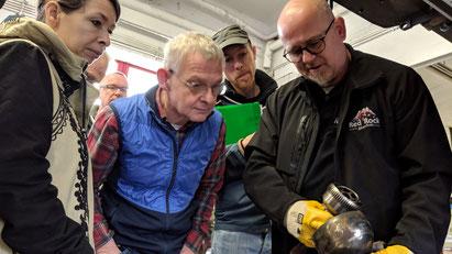 Erläuterungen beim Land Rover Defender Workshop I