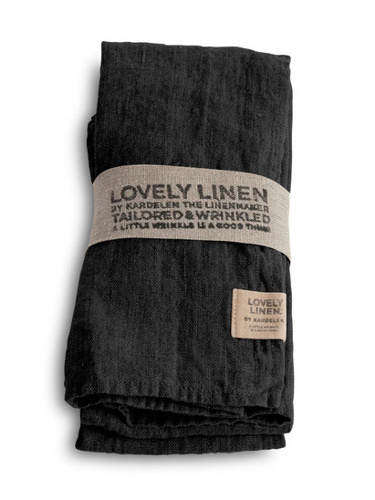 Lovely Linen Stoffservierten Dark Grey