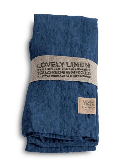Lovely Linen Stoffservierten Denim Blue