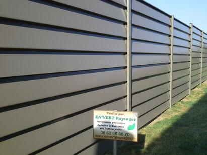clôture occultante aluminium ALUCLOS ALUCLIN ALULAM