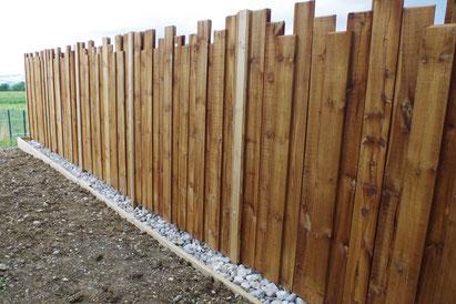 clôture occultante en bois Argonay