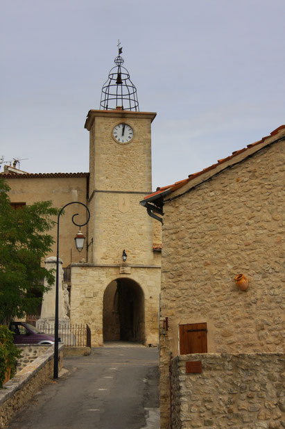 Bild: Tour de l´Horloge, Dorfeingang in Lurs