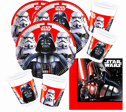 Star Wars Party Set Stormtrooper Darth Vader 52-teilig