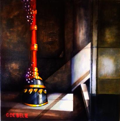 Tibetan Bell  Oil on canvas  80cmx80cm   Prijs 650 euro