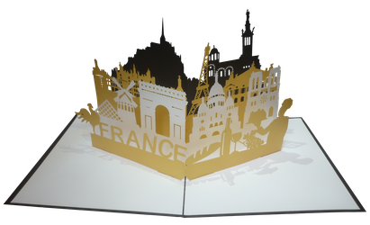 Carte pop-up love France