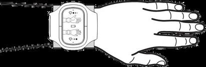 schematische Darstellung, wie das Inferum ABP 051 angelegt wird um eine blutdruckerhöhende Wirkung zu erzielen