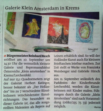 Ein Ausschnitt aus dem Kremser Bezirksblatt.