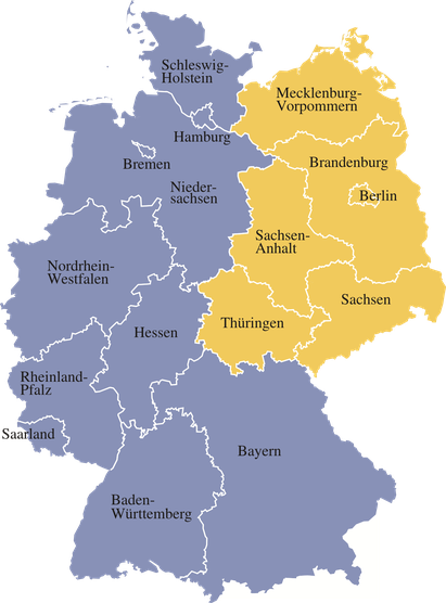 map of germany with different states