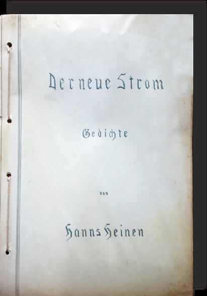 Der neue Strom, Gedichte von Hanns Heinen