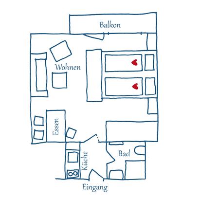 Grundriss Appartement 06 – Anna