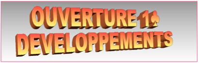 OUVERTURE 1♣  DÉVELOPPEMENTS