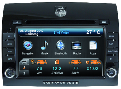 AL-CAR Navigationsgerät / Naviceiver EASINAV Driver 3.5 Multi-CAN und High für Fahrzeuge der Marken FIAT, Peugeot und CItroen