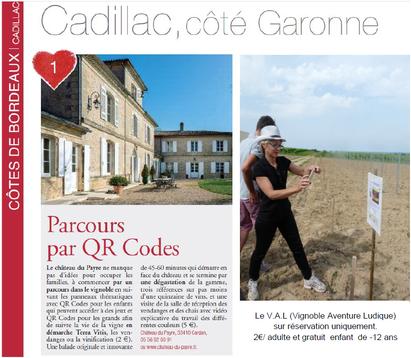 Revue Avril 2017 - Terre de Vins, Parcours par QR codes, Château du Payre