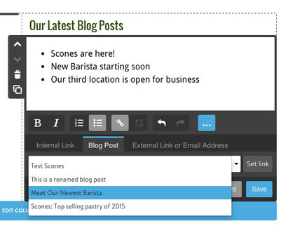 Use HTML links to direct people to your blog posts.