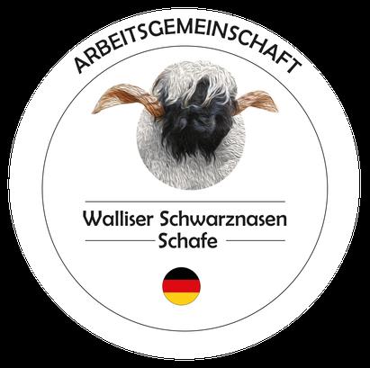 Logo Arbeitsgemeinschaft Walliser Schwarznasen Schafe