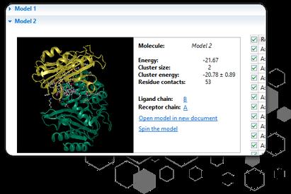 タンパク質のドッキングシミュレーションソフトウェア