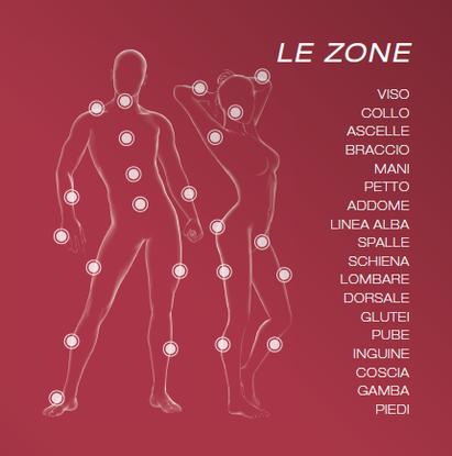 depilis epilazione laser diodo zone