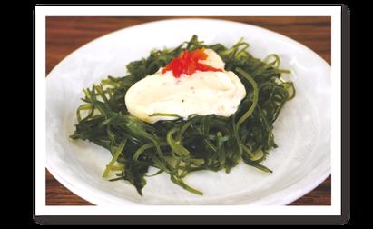「山椒味噌マヨの切り昆布サラダ」