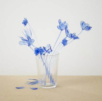 blue flower III - Masami Hirohata