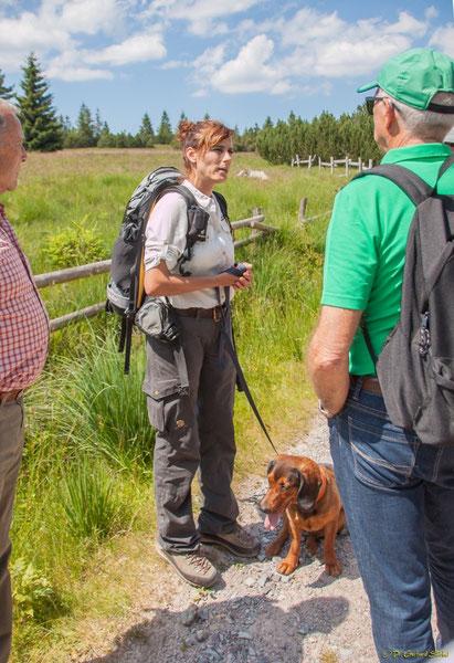 Nationalpark-Rangerin Heidrun Zeus vor den Grindenflächen