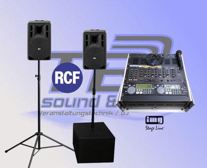 Nova Musikanlage mieten in Bonn, komplett mit IMG DJ Rack, Doppel CD Player, Mischpult und Funkmikrofon