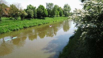 Der Fluß die HASE in Herzlake, Emsland