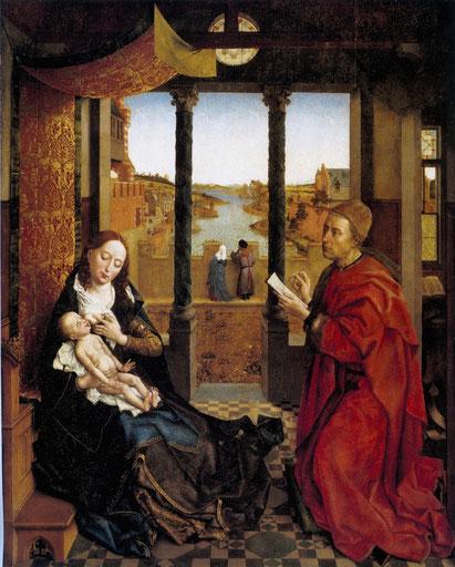 Boston - Museum of Fine Arts - Rogier van der Weyden - ca. 1440 - De Heilige Lucas schildert de Madonna.