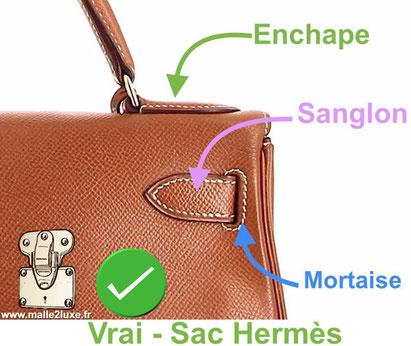 6ccccea667 sac hermes kelly birkin reconnaitre enchape sanglon et mortaise contrefaçon  et faux