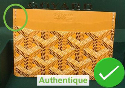 recognize counterfeit Saint Sulpice card holder and real goyard