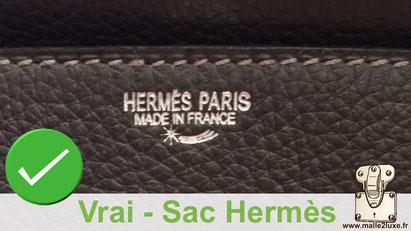 Hemres paris made in france vrai sac hermes étoile filante contrefaçon reconnaitre