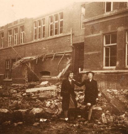 Die am 7.7.1941 zerstörte Stein-Schule