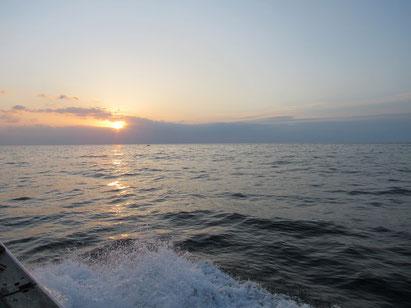 仲間を歓迎してか海は、穏やかでした。