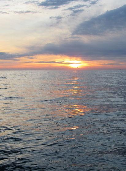 穏やかな朝陽