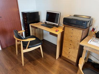 ワークテーブル、無事にお届け完了です。家具工房ZEROSSOのオーダーメイド家具。