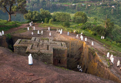 Churches at Lalibela, Ethiopia. Dante Harker