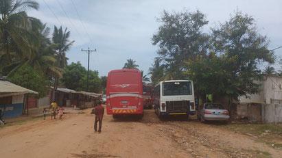 The area where the Nagi Investment Coaches gather in Pemba, Mozambique. Dante Harker