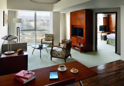 Our spacious suite at the Marriott Executive Apartments, Addis Ababa, Ethiopia. Dante Harker