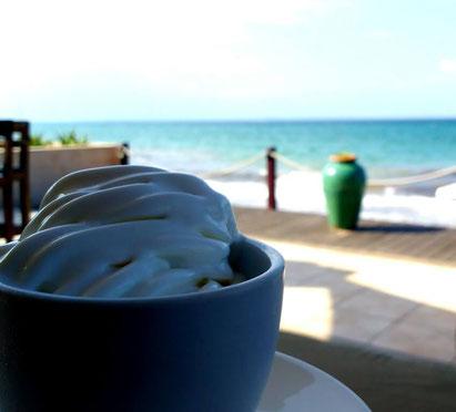 Ice cream on Pemba Beach, Mozambique. Dante Harker