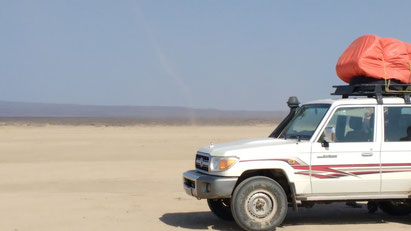 Our jeep in the Afar Region of Ethiopia. Dante Harker