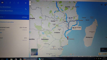 Travelling overland through Mozambique on public transport. Dante Harker