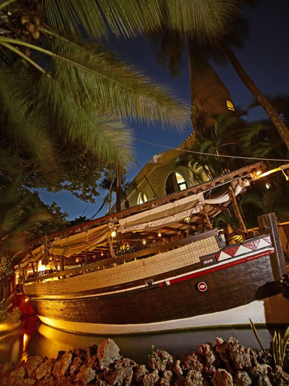 The Imani Dhow restaurant at the Severin Sea Lodge, Mombasa, Kenya. Dante Harker