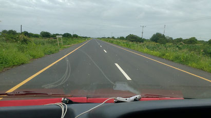 Some of the roads in Mozambique are incredibly new, which makes overland travel easier. Dante Harker