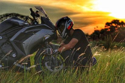 Unfallversicherung für Motorradfahrer