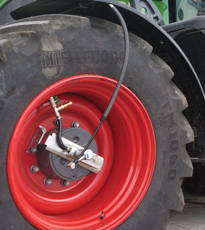 TERRA CARE Reifendruckregelanlage Traktor Anhänger Anschluss Vorderreifen