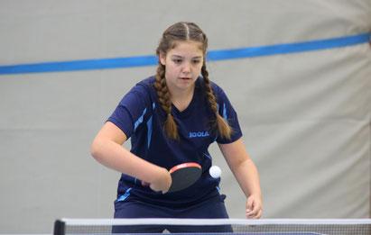 Platz 3 im Einzel und Rang 2 im Doppel: Julia Stellpflug